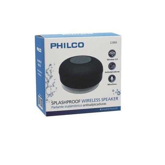 Parlante bluetooth resistente al agua Philco 228BK