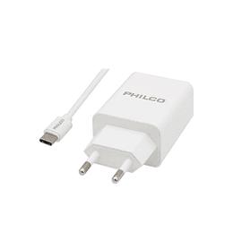 Cargador USB inteligente con cable C Philco QC619