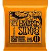 Cuerdas de guitarra electrica 2222 Ernie Ball Hybrid slinky