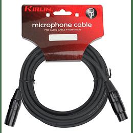 Cable xlr 3 mts Kirlin Mpc270Bk