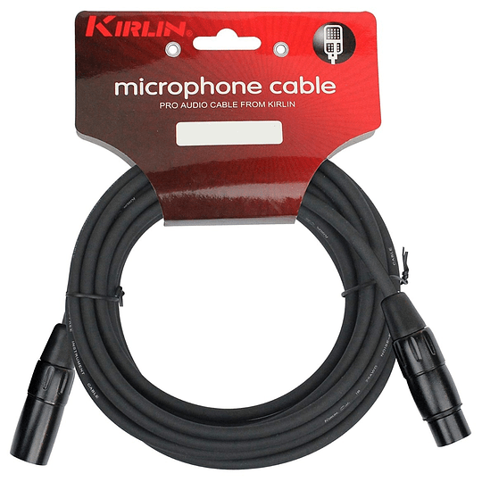Cable xlr 1 mts Kirlin Mpc270Bk