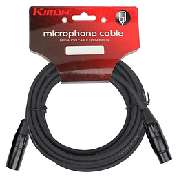 Cable xlr de 10 mts Kirlin MPC270BK