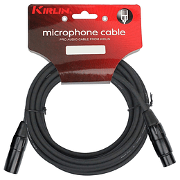 Cable xlr 6 mts Kirlin MPC270BK