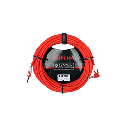 Cable plug 3 mts rojo Kirlin LGI202RD