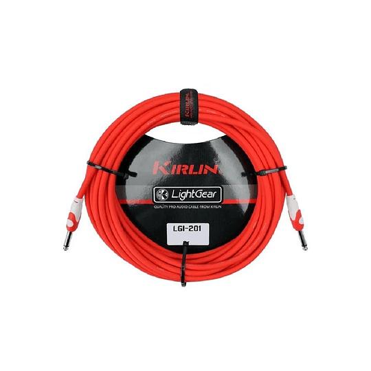 Cable plug 3 mts rojo Kirlin LGI201RD