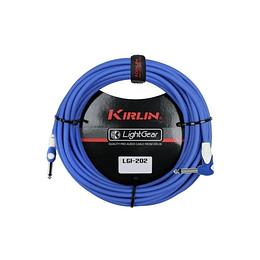 Cable plug 6 mts azul Kirlin LGI202BL