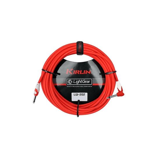 Cable plug 6 mts rojo Kirlin LGI202RD