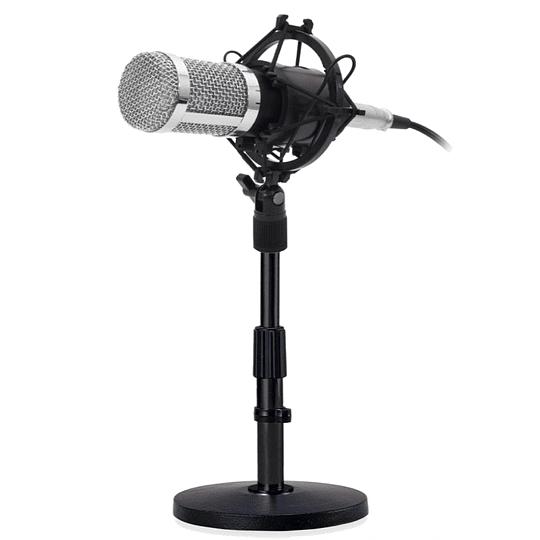 Micrófono condensador philco mas atril de sobremesa