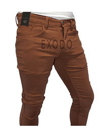 Jeans terracota , elasticado, slim fit