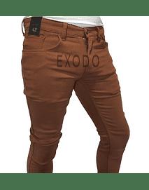 Jeans terracota , elasticado, slim fit