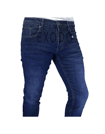 Jeans azul  , elasticado, slim fit
