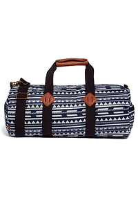 bolso de mano blanco/azul diseño tribal