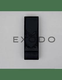 Set de corbata  delgada , color negro