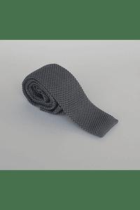 Corbata tejida color gris
