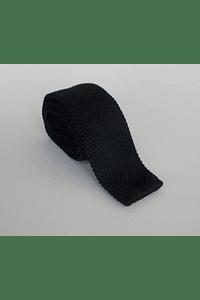 Corbata tejida color negro