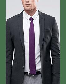 Corbata tejida color lila