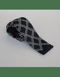 Corbata negro con lineas