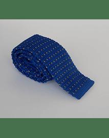 Corbata azul puntos amarillos