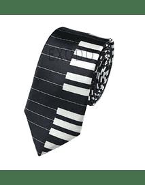Corbata diseño  piano negro