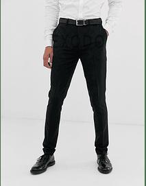 pantalón de tela color negro