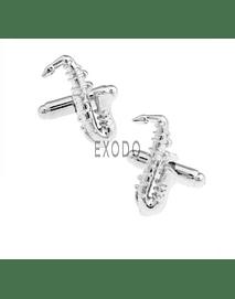 Colleras Saxofon Musica , Gemelos Para Camisa, Traje