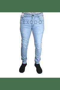 Jeans celeste , elasticado