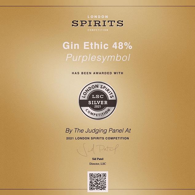GIN 50cl 48% ETHIC 48 Botanicals