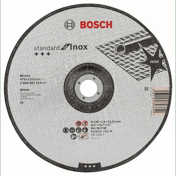 Disco de corte curvo 230mm Standard for Inox BOSCH