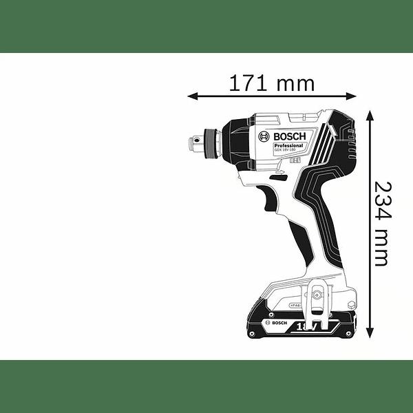 Aparafusadora de Impacto GDX 18V-180 BOSCH