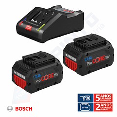 Conjunto 2 baterias ProCORE18V 8.0Ah + carregador BOSCH