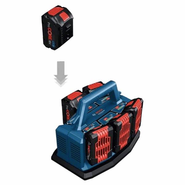 Multicarregador de 18 Volts GAL 18V6-80 BOSCH