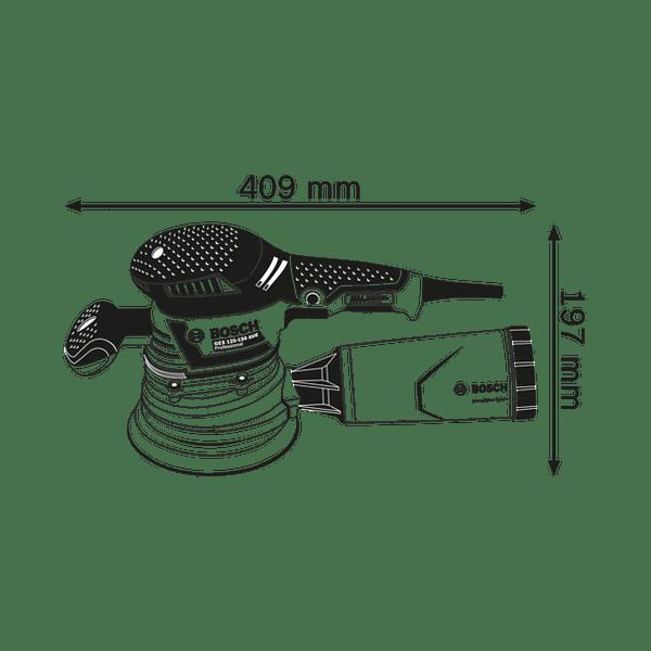 Lixadora orbital GEX 40-150 BOSCH