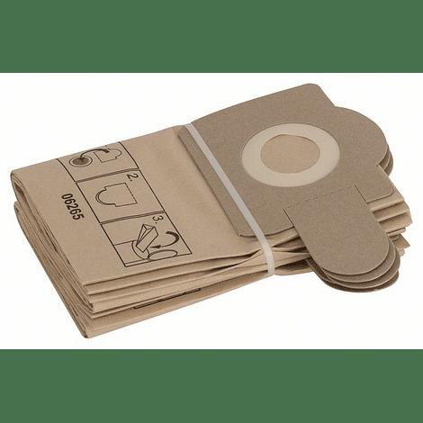 Filtro papel PAS 11-21/12-17/12-27F:5uds BOSCH