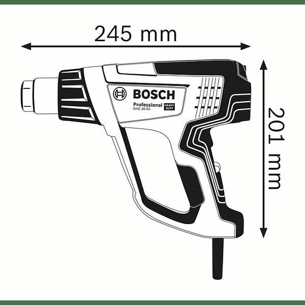 Soprador de ar quente GHG 20-63 BOSCH