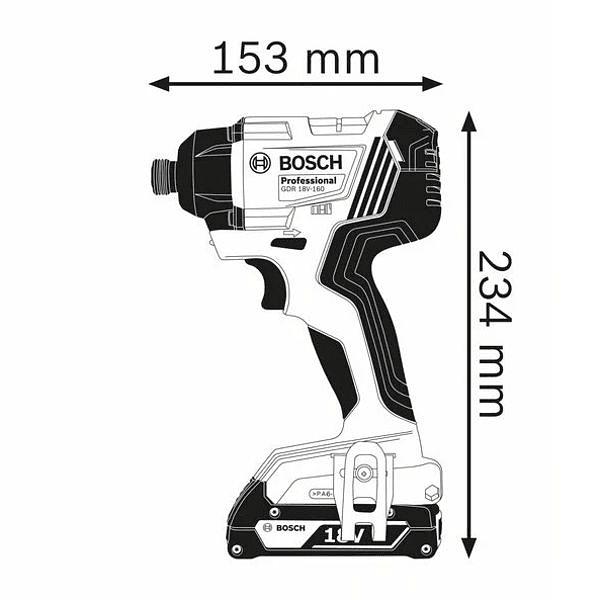 Aparafusadora de impacto GDR 18V-160 BOSCH