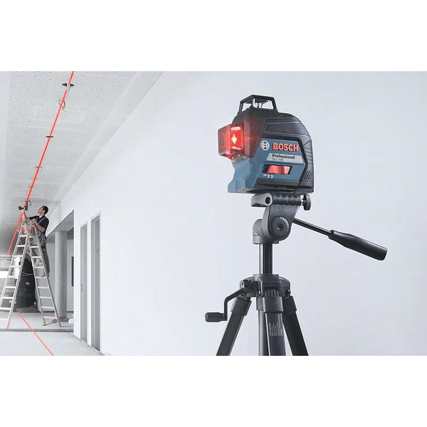 Nivel Laser de 3 linhas vermelhas GLL 3-80 BOSCH + Tripé BT 150
