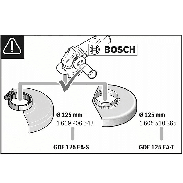 Colector de pó para rebarbadoras 125mm GDE 125 EA-T BOSCH