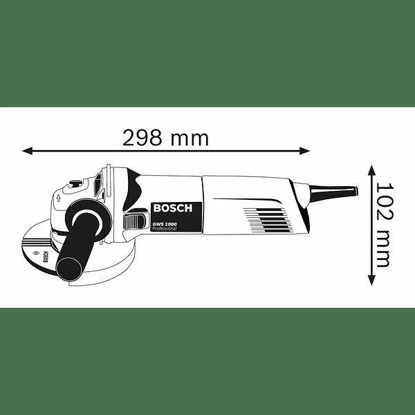 Rebarbadora pequena GWS 1000 com acessório aspirador GDE 125 EA-T BOSCH