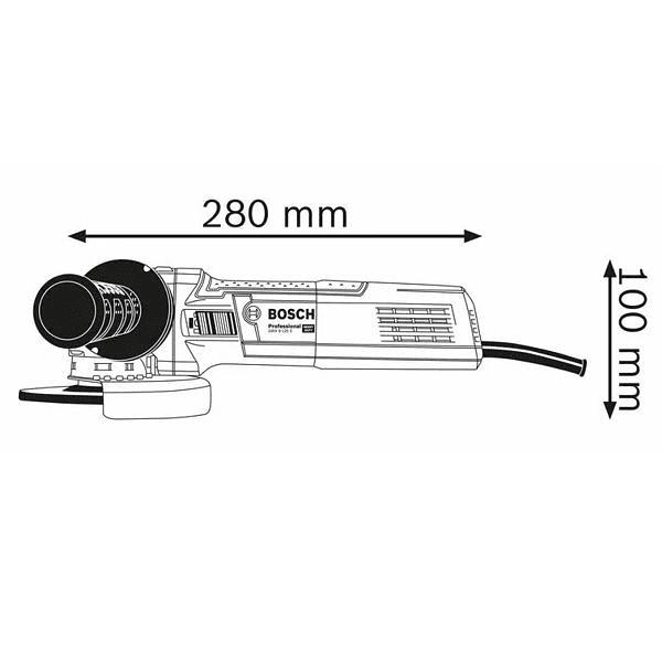 Rebarbadora X-LOCK com regulador de velocidade GWX 9-115 S BOSCH