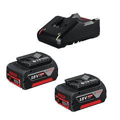 Conjunto 2 baterias 18V 4.0 Ah e carregador BOSCH