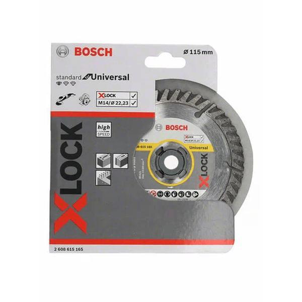 Disco de corte universal diamante X-LOCK 115mm BOSCH