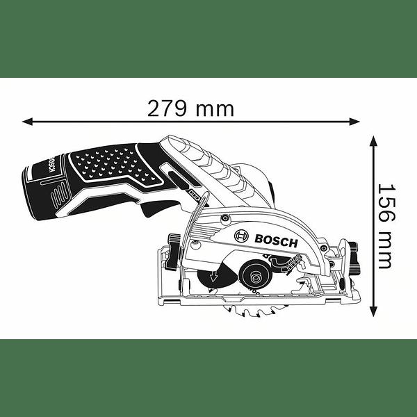 Serra circular a bateria GKS 12V-26 BOSCH
