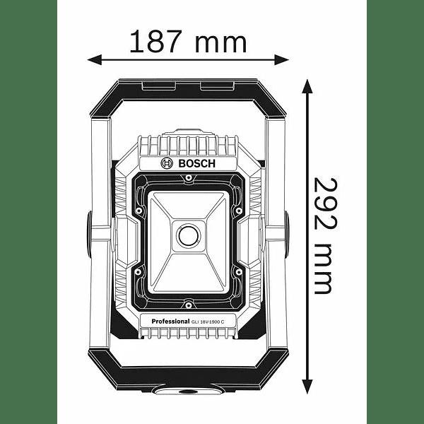 Lanterna a bateria GLI 18V-2200 C BOSCH