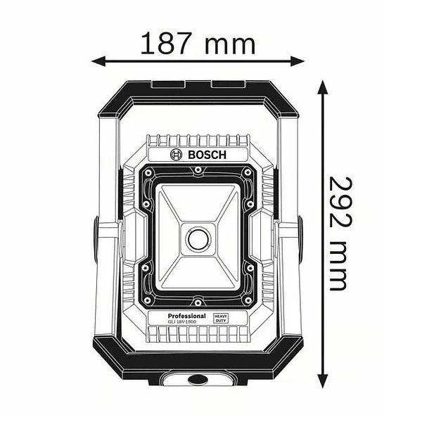 Lanterna a bateria GLI 18V-1900 BOSCH