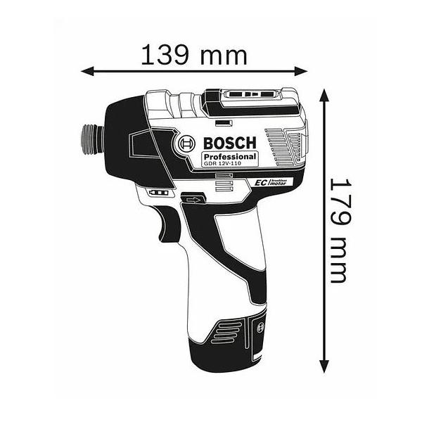 Aparafusadora de impacto GDR 12V-110 BOSCH