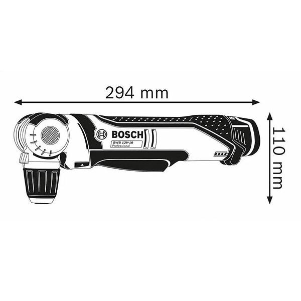 Aparafusadora/Berbequim Angular sem fio GWB 12V-10 BOSCH