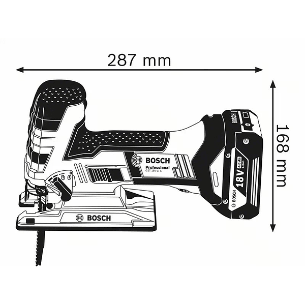 Serra vertical tico tico a bateria 18 Volts GST 18V-LI S BOSCH