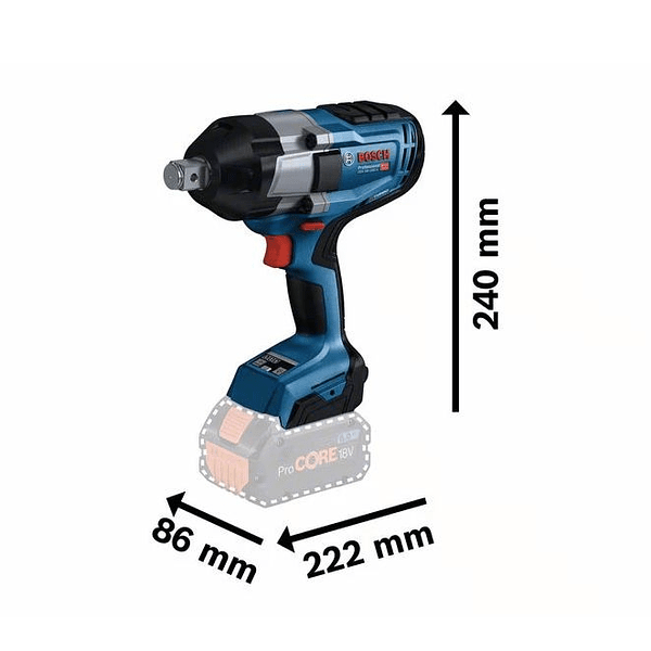 Aparafusadora de impacto GDS 18V-1050 H BOSCH