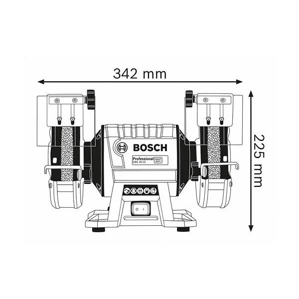 Esmeriladora dupla GBG 35-15 BOSCH