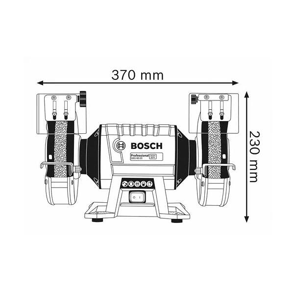 Esmeriladora dupla GBG 60-20 BOSCH